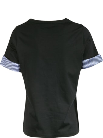 Fay Stripe Sleeve Detail T-shirt
