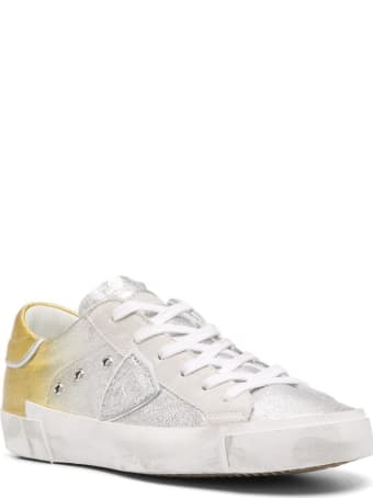 Philippe Model Low Sneakers In Gradient-effect Leather