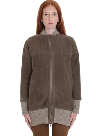 Salvatore Santoro Leather Jacket In Beige Leather