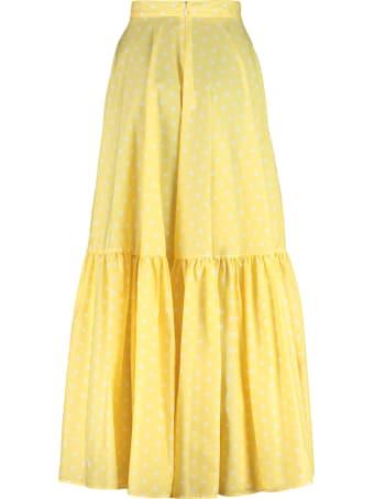Plan C Polka-dot Cotton Skirt