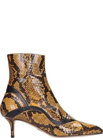 Paula Cademartori Ankle Boots In Yellow Leather