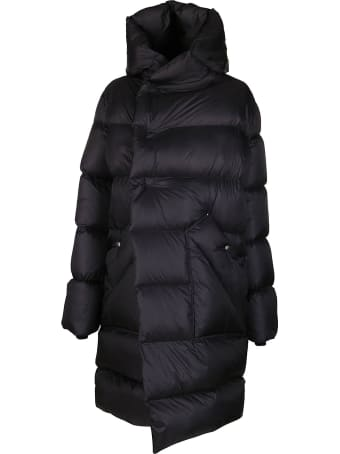 Rick Owens Black Cotton Blend Padded Coat