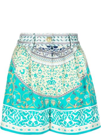 Etro Floral Patchwork Print Silk Shorts
