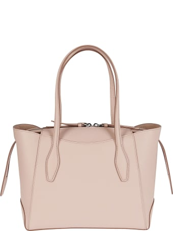 Tod's Pink Leather Aos Tote Bag