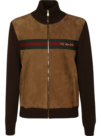 Gucci Ribbed Neck Zip Bomber