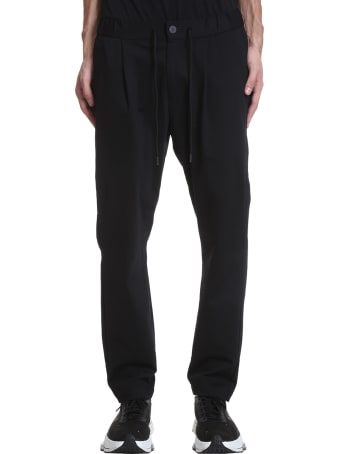 Attachment Pants In Black Cotton