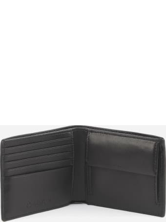 Calvin Klein Leather Wallet With Inlaid Logo