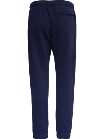 Kenzo Blue Cotton Jogger With Tiger Patch