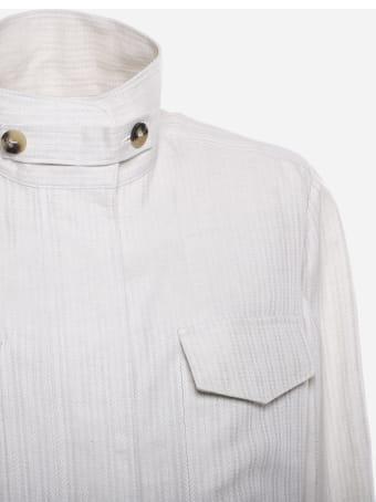 Loro Piana Linen Jacket With Herringbone Pattern