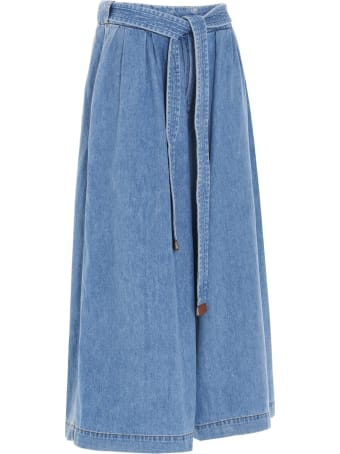 Loewe 'cropped Belt' Jeans