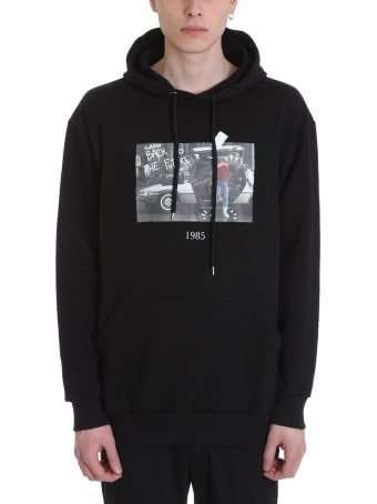 Throwback Marty Black Cotton Hoodie