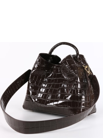 Elleme Raisin Croco Embossed Leather Burgundy
