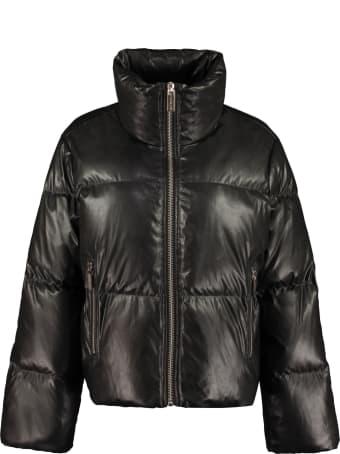 MICHAEL Michael Kors Faux Leather Down Jacket