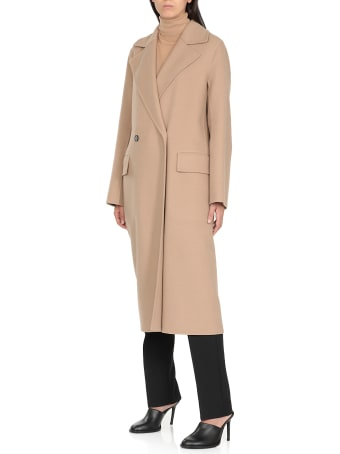 Jil Sander Newman Double Breasted Coat