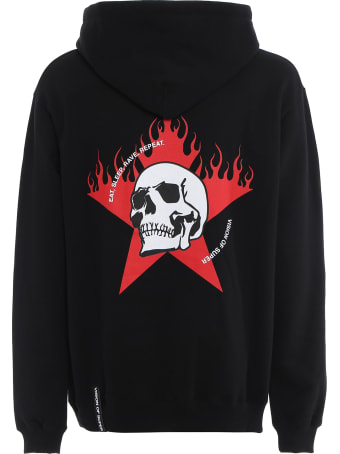 Vision of Super Hoodie White Skull And Red Star