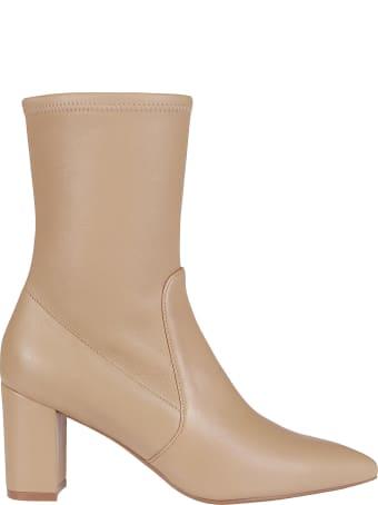 Stuart Weitzman Nude Leather Boots
