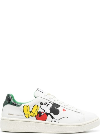M.O.A. master of arts Leather Sneakers With Mickey Mouse Print