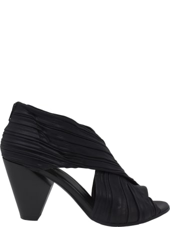 Elena Iachi A4450 Pump In Black Leather And Fabric