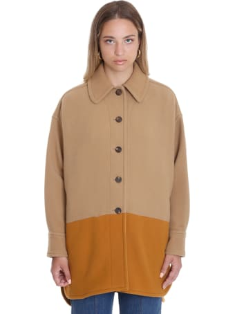 Chloé Coat In Brown Wool
