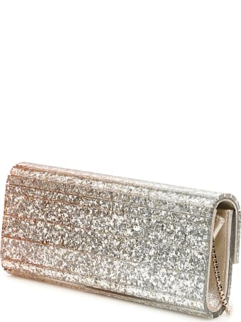 Jimmy Choo Acrylic Sweetie Triple Degrade Glitter Clutch