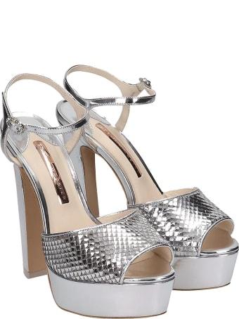 Sophia Webster Natalia Sandals In Silver Leather
