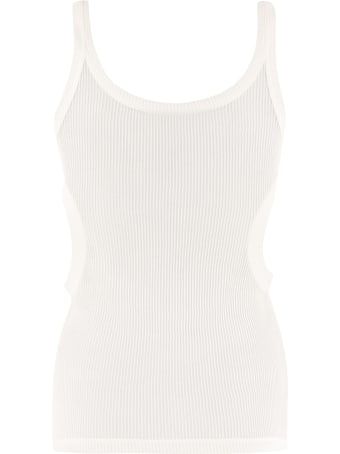 Off-White Cut-out Details Jersey Tank Top