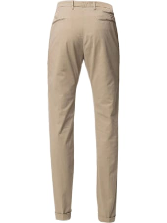 Briglia 1949 Beige Stretch Cotton Chino Trousers