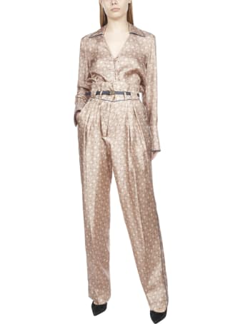 Fendi Fluid High Weist With Belt Trousers