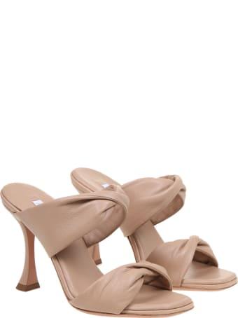 Aquazzura Twist 95 Sandals In Soft Leather