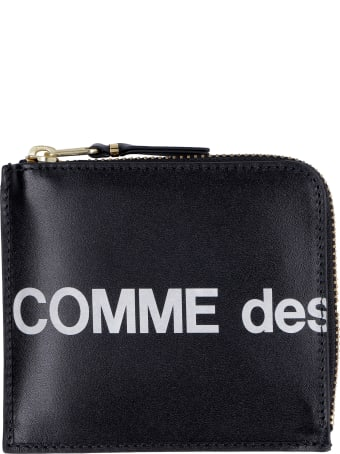 Comme des Garçons Wallet Huge Leather Zipped Coin Purse