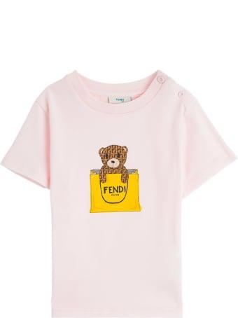 Fendi Jersey T-shirt With Ff Bear Print