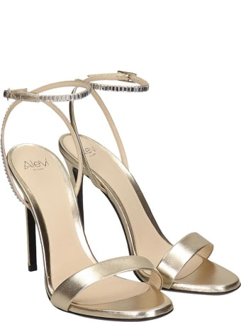 Alevi Jen 110 Sandals In Gold Leather