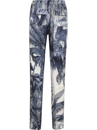 For Restless Sleepers Tropical Print Fitted Trousers