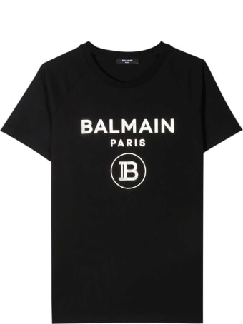 Balmain Black T-shirt Teen