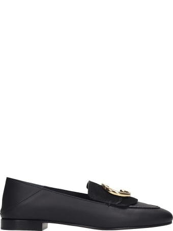 Chloé Moc Chloe Loafers In Black Leather