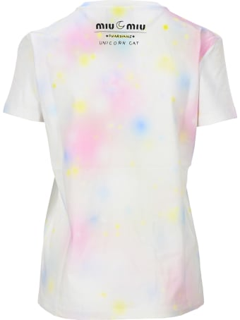 Miu Miu Unicorn Cat Print T-shirt