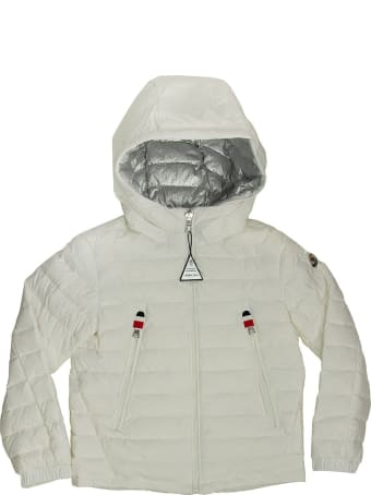 Moncler Hooded Down Jacket Sill White/silver
