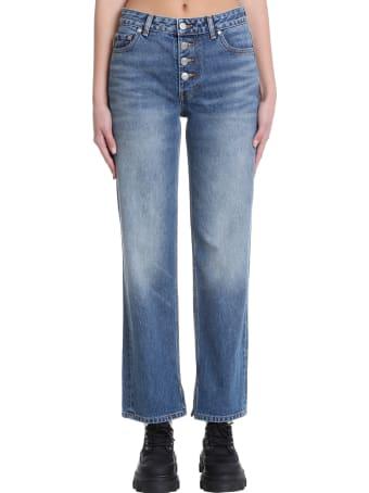Ganni Jeans In Blue Denim