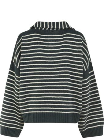 Jejia Stripe Knit Oversized Pullover