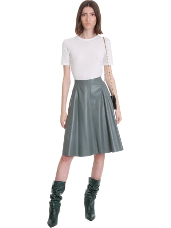 DROMe Skirt In Grey Leather