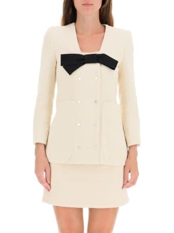 Patou Tweed Blazer With Bow