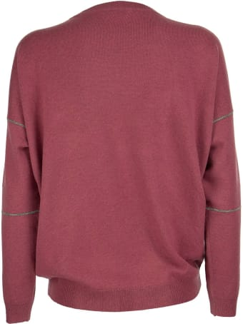 """Brunello Cucinelli Virgin Wool, Cashmere And Silk Sweater With """"shiny Stitching"""""""