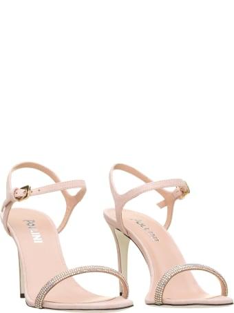 Pollini Pollini Powder Pink Leather Sandals