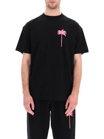 Palm Angels Neon Palm Tree Print T-shirt