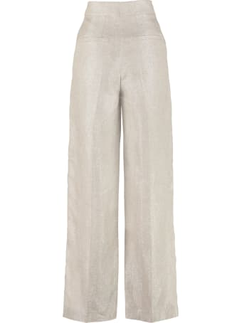Brunello Cucinelli Knitted Lurex Wide-leg Trousers