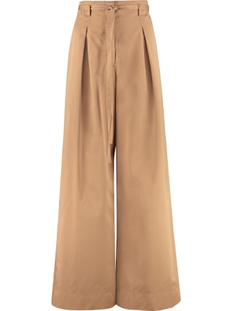 Tory Burch Cotton Will Wide Leg Trousers