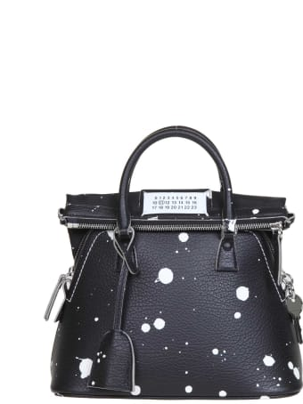 Maison Margiela Handbag 5ac Uv Mini In Black Calfskin