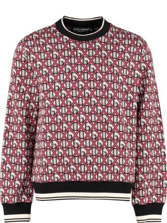 Dolce & Gabbana Jacquard Crew Neck Sweater