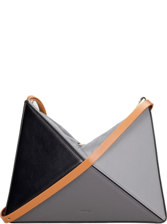 Mlouye Shoulder Bag In Black Leather