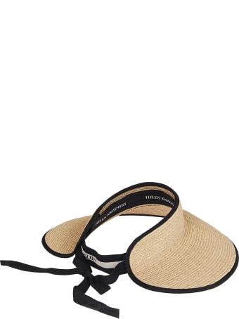 Helen Kaminski Natural Raffia Mita Visor Hat